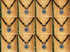 Necklace Surfer Necklace Leather Chain Men's Jewelry Zodiac Sign, Star Sign