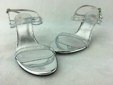 Stuart Weitzman Cinematic Silver Specchio Sandal MISMATES R 8M L 8.5M  B435#