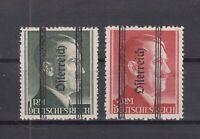 S4198/ AUSTRIA – SOVIET ZONE – MI # 693 II B – 695 II A MINT MH SIGNED