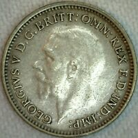1931 Great Britain Silver 3 Pence Coin VF Very Fine