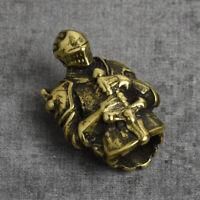 Antiqued Templar Paracord Beads Knife Parachute Cord Pendant Brass