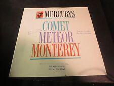 Original 1962 Mercury Comet Meteor & Monterey Brochure