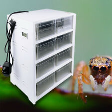 Eigth Grid Pet Reptile Cage Feeding&Breeding Tank For Insect Lizard Amphibian Us