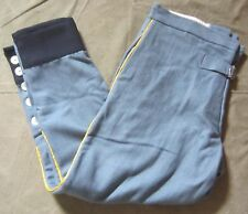 WWI FRENCH M1915 SKY BLUE WOOL COMBAT FIELD TROUSERS- XLARGE