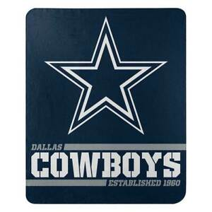 """DALLAS COWBOYS FLEECE THROW BLANKET 50"""" X 60"""" NFL OFFICIALLY LICENSED NEW!"""