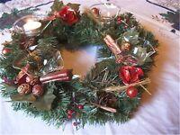 4 Teelicht Kerzen Halter für Adventskranz Weihnachten Glasstecker Qualität