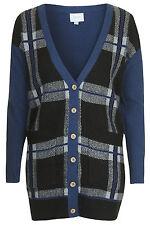 Topshop Zavi Tartan Cardigan by Jovonna - Blue/Multi - Size S/M - RRP £60 - New