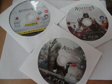 Sony PS3 - Assassins Creed, II and III (Pack of 3 CD's)  - Disc Only