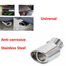 1X High Quality Stainless Steel Universal Curved Pipe Car Exhaust Tips Tail Pipe