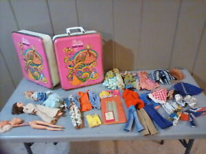 Vintage  LOT of Barbie Dolls-Clothes-Case and more.