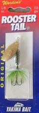 Wordens Roostertail 1/8oz - Frog Worden's Yakima Spinner Lure