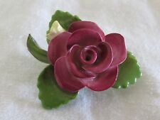 Vintage Cara Bone China Brooch Rose Flower Pin Staffordshire ENGLAND