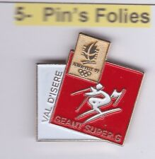 Pin's Folies Badge Albertville Olympic games 1992 Geant super G Val d'isere