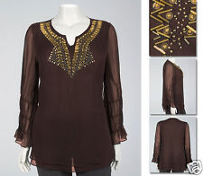 NEW Zaftique CLEOPATRA TOP Coffee Brown 00Z 0Z 12 14 16 M L XL 1X 2X 3X 4X 5X 6X