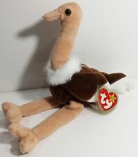 "Ty Beanie Babies ""Stretch"" the Ostrich Bird - Mwmts! Retired! Perfect Gift! New!"