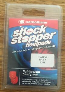 Sorbothane Heel Pads Shock Stopper Insoles Small UK 3-5  NEW RRP £12