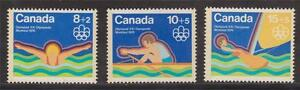 Canada 1975 B4 to B6 Olympic Water Sports MNH