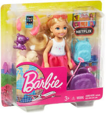 More details for barbie chelsea doll and travel set with puppy