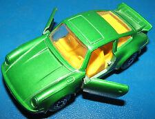 1978 Matchbox Lesney #3 Porsche Turbo 911 Metallic Green Tan Interior Doors Open