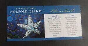 Norfolk Island 2009 Mosaics Turtle Star Booklet SG1050/9 self adhesives MNH UM