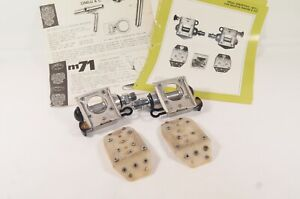 Vintage Cinelli M17 Pista Suicide Track Pedals w/ Cleats