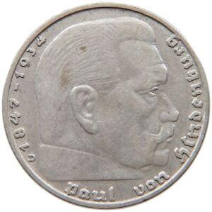 GERMANY 2 MARK 1936 D #c70 425
