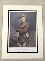 1900 Antico Militare Stampa British Esercito Generale William Henry Mackinnon