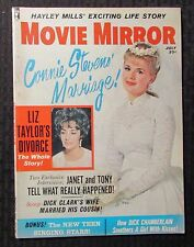 1962 July MOVIE MIRROR Magazine VG 4.0 Elizabeth Taylor - Connie Stevens