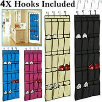 20 Pocket Over Door Shoe Organiser Storage Rack Hanging Tidy Space Saver 10 Pair