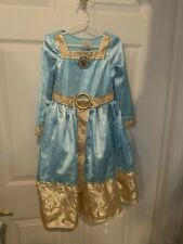 Disney Store Merida Costume Dress Gown Mint Green Brave Child Size XXS 2/3