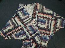 Love On A Hanger Aztec Open Front Cardigan Kimono Light Sweater Women's Medium