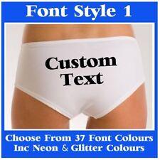 Personalised Womens Underwear Knickers Funny Wedding Hen Christmas Birthday Gift