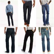 Levis Mens 527 Slim Fit Boot Cut Cotton Denim Jeans Green Black Blue Dark Light