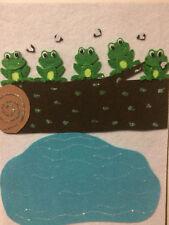 FELT BOARD NURSERY RHYME TEACHER RESOURCE - 5 GREEN SPECKLED FROGS