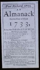 """Poor Richard's Almanack"", Title Page, First Edition, Magic Lantern Glass Slide"
