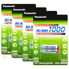 8 x Panasonic AAA batteries 1000 930mAh Ni-MH Rechargeable High capacity Pack