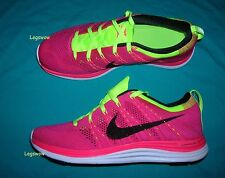 Nike Flyknit 1+ One Plus Pink Flash Fireberry Running Shoes Sneakers Womens 9.5