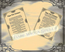 Pagan Tools Dictionary 2 Parchment pg lot for your Wicca Magick Book of Shadows