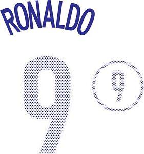 Ronaldo #9 Brazil 2004 Away Football Nameset for shirt