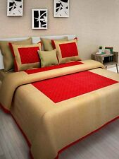 Cally 100% Pure Cotton King Size Double Bed Sheet with 2 Zippered Pillow Covers