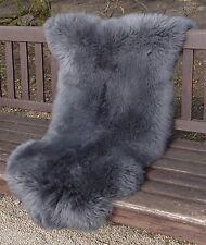 Merino Gray Natural Sheepskin Rug Real Fur Lambskin pelt