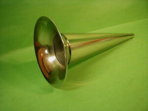 "Edison Columbia 14"" Nickel Cylinder Phonograph Horn Standard, Home, AT"