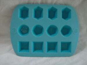 WILTON RO Rosanna Pansino GUMMY CANDY SILICONE MOLD GEM SHAPES 12 cavity Ice+++