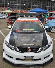 Hybrid Hood (Carbon Fiber + Clear) Civic Sedan 12 13 14 15 & Civic Coupe 12 13