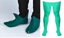 Bufón Verde Elfo Medias Y Zapatos Fancy Dress Costume pantomima de Navidad Navidad Gruta