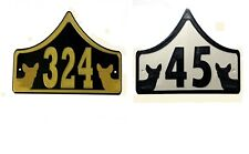 Chihuahua House Door Number Plaque -Garden Gate Dog Sign (0 to 999)
