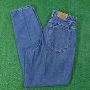 VINTAGE LL BEAN USA MADE TAPERED ELASTIC WAIST MOM JEANS WOMENS 8 R 27X29
