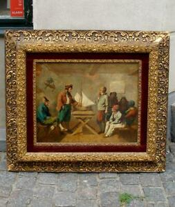Gustav Bartsch ( German, 1821) Exam of young naval cadets. Dated 1852. RARE!