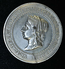 Great Britain 1887 AU/UNC 45mm white metal Victoria 50th anniversary Jubilee