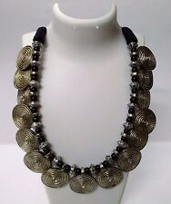 Necklace Silver Oxidize Jewelry Ethnic Gypsy Tribal Boho Chic Fusion India EA316